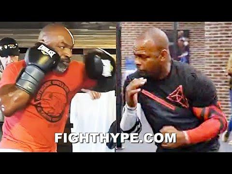 MIKE TYSON VS. ROY JONES JR. SIDE-BY-SIDE COMEBACK TRAINING COMPARISON – POWER & SPEED AGES 54 & 51