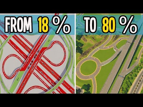 I am BLOWN AWAY by how AMAZING this Traffic Fix is in Cities Skylines!