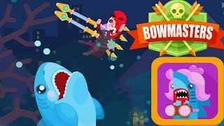 Bowmasters - Shark The Sea Princess ALL New Characters Upgrade Gameplay Walkthrough iOS/Android