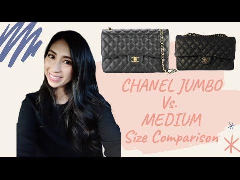 Chanel Jumbo Flap vs Chanel Medium Flap | Chanel Purses Comparison | Color Black | Minimalist Style
