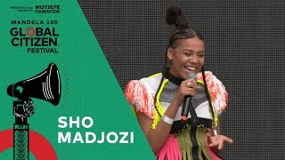 "Sho Madjozi Performs ""wakanda Forever"" Global Citizen Festival Mandela 100"