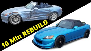 Rebuilding a Salvage Honda S2000 in 10 Minutes like THROTl