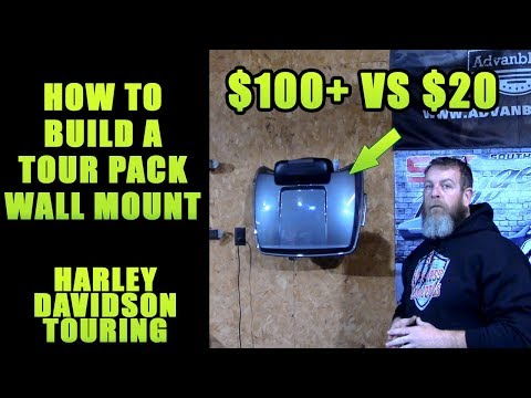 How To Make A Tour Pack Storage Wall Mount Cheap