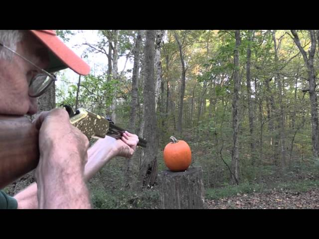 Hickok45 Carves a Pumpkin with a New Original Henry