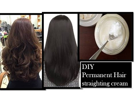 permanent hair straightening at home   using Natural ingredients
