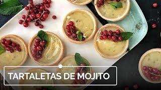 Tartaletas de mojito, el postre más refrescante
