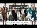 Holiday Party Outfit Ideas 2018 Express Try On Haul