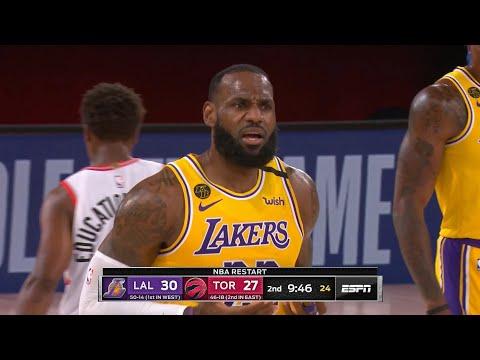 LAKERS vs RAPTORS – 1st Half Highlights | NBA Restart