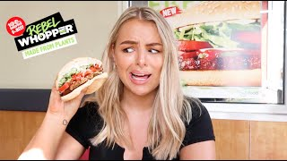 TRYING A PLANT BASED BURGER THAT TASTES LIKE BEEF?! ft. Hungry Jacks Rebel Whopper