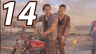 THE MOST INTENSE SCENE YET!! - Uncharted 4: A Thiefs End Gameplay Walkthrough Part 14