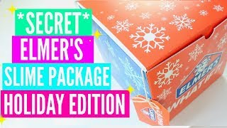 #AD Elmer's Secret Santa Slime Package Unboxing #ElmersWhatIF! Mixing Makeup and Glitter Into Slime