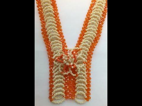 zip up beaded necklace tutorial