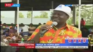 Raila Odinga leads NASA leaders as they take their campaigns to Homa Bay