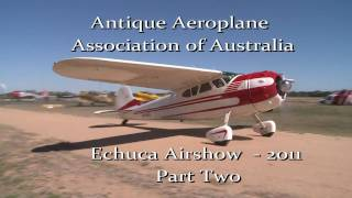 preview picture of video 'Antique Aeroplane Association of Australia Echuca Air Display 2011 part 2'