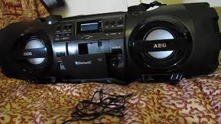 AEG Radio Soundbox SR4360BT and Korg Monotron Delay demo
