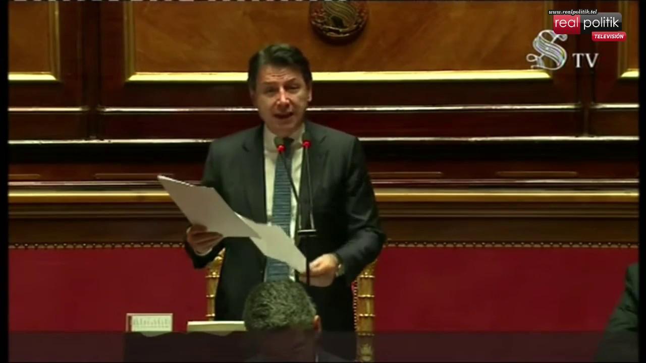 Italia: El presidente del Concejo GIuseppe Conte brinda un informe ante el Senado de la República
