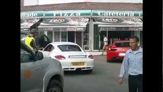 preview picture of video 'Ferrari F458 italia & Porsche Cayman à Oran Ain Turk Algerie 2012'