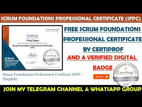 Certiprof Free Scrum Foundations Professional Certificate SFPC ...
