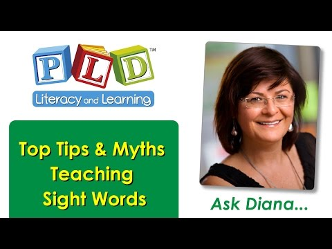 Sight word teaching and assessments for Foundation