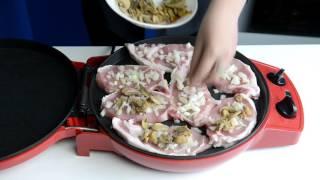 Мясо по-французски в мультипечи GFgril GFB-1500 PIZZA-GRILL