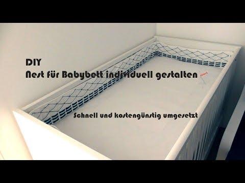 DIY Bettumrandung / Nest fürs Babybett / Kinderbett gestalten
