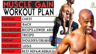 The BEST FFULL WEEK WORKOUT PLAN WITH DUMBBELL | MUSCLE GAIN WORKOUT PLAN W