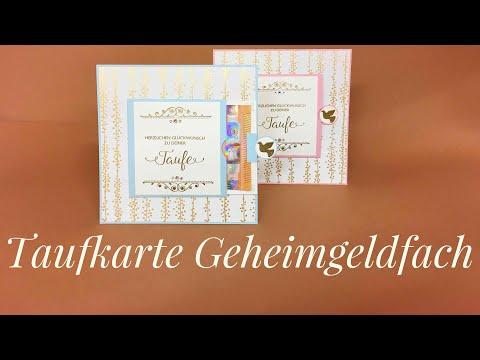 """Taufkarte mit """"geheimem Geldfach"""" mit Stampin Up Produkten"""