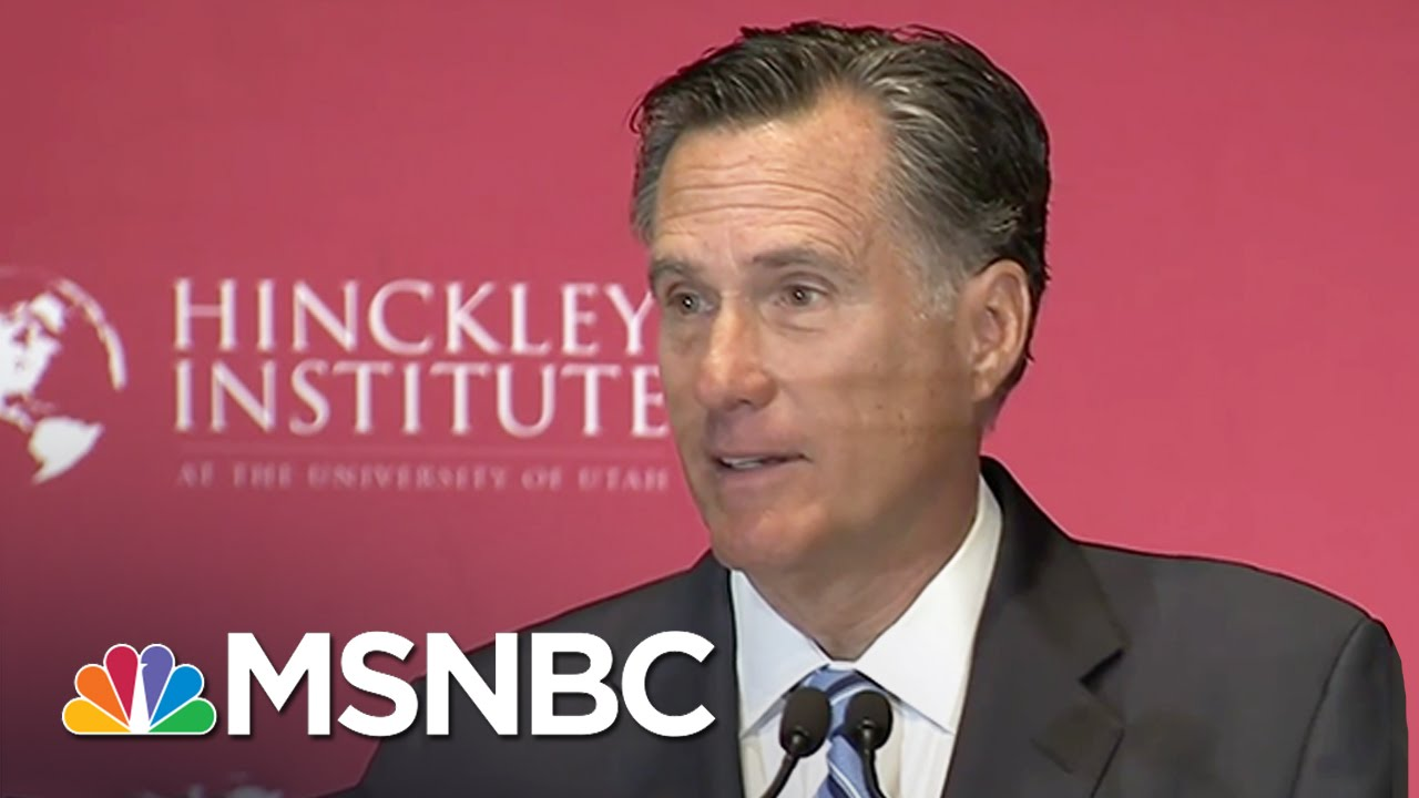 Mitt Romney: 'Donald Trump Is A Phony' | MSNBC thumbnail