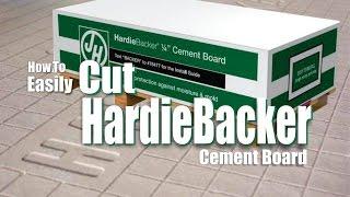 How to Easily Cut Hardiebacker Cement Board DIY