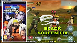 BLACK SCREEN ISSUE FIX - NARUTO SHIPPUDEN ULTIMATE NINJA HEROES 3 | PPSSPP GAMES