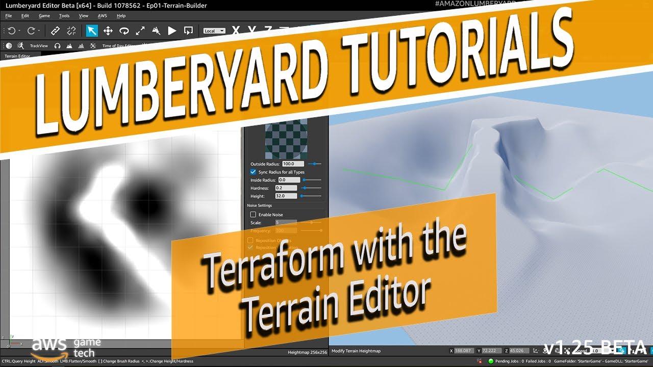 Terraform with the Lumberyard Terrain Editor   Lumberyard Tutorial 2020.20