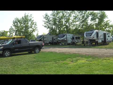 Our campsite, and some of the partial hookup sites in the background.