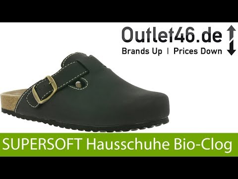 SUPERSOFT Herren Bio Hausschuhe l Höchster Tragekomfort l 360° Video l Outlet46.de