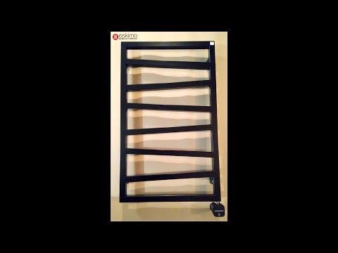 Terma ZigZag 835х500, RAL 9005 mat, терморегулятор HeatQ NEX