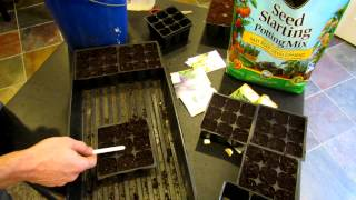 Starting Herbs and Perennials Indoors - Seed Mix and Planting Techniques: The Rusted Garden 2013