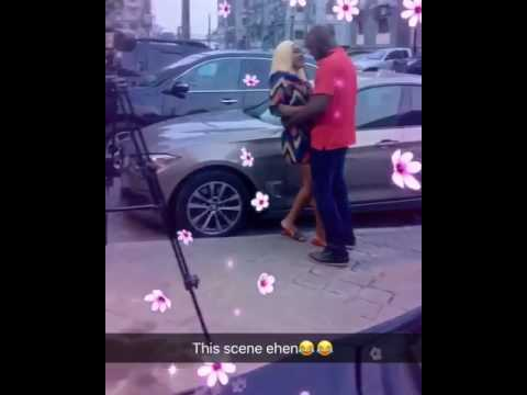 Mercy Aigbe shares Romantic Scene on set