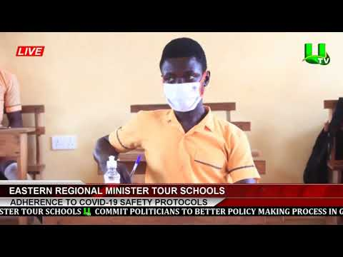 Adherence To Covid-19 Safety Protocols: Eastern Regional Minister Tour Schools