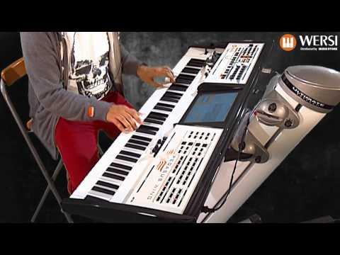 Eingebaute Begleitband im Wersi Pegasus Wing Keyboard