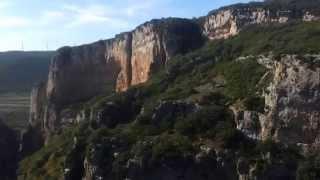 preview picture of video 'La Foz de Lumbier desde arriba'