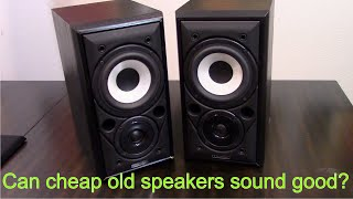 Mission 700 Bookshelf Speaker review and demo - Budget second hand HiFi