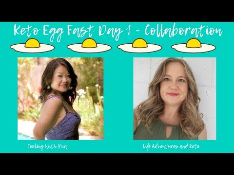 Keto Egg Fast Day 1 | Egg Fast Collaboration with Life Adventures and Keto