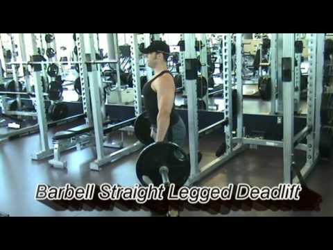 Barbell Straight Legged Deadlift