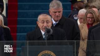 Rabbi Marvin Hier delivers Prayer at President Trump's Inauguration