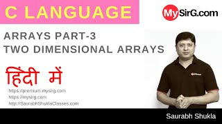 Download Youtube: Lecture 12 Two Dimensional Arrays in C Part 1 Hindi