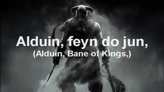 Skyrim  The Song of the Dragonborn with lyrics