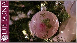 Three DIY Shabby Chic Christmas Ornaments