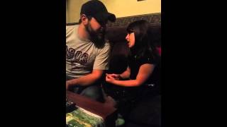Daddy and daughter sing