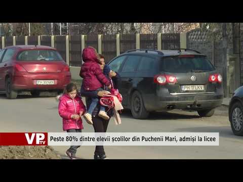 Peste 80% dintre elevii școlilor din Puchenii Mari, admiși la licee