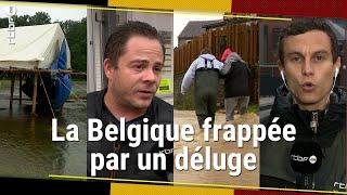 Inondations en Belgique : la Wallonie sous eau (dégâts, évacuations, scoutisme) - RTBF Info