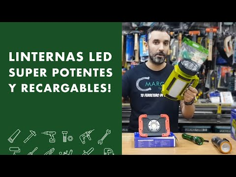 Linternas LED SUPER POTENTES y recargables!